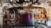 Abandoned movie theatre