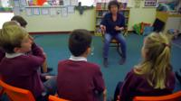 Jeanette Winterson talking to children