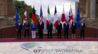 G7 leaders pose for photo