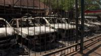 Cars burnt in South Africa's violence