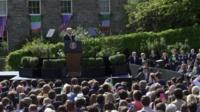 Vice president of the Us Joe Biden speaking in Ireland