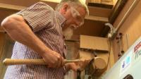 Brian Holmes making a bowl