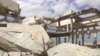 Yasser Arafat International Airport ruins in Gaza