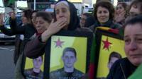 Kurdish mourners