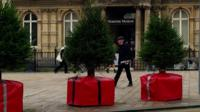 Christmas tree bollards