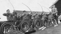 Wheelchair archers pictured in 1953