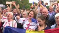 Protestors in Moldova