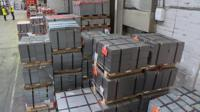 stockpiles in factory