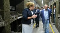 The head of a Crimean winery taking Russian president Vladimir Putin on a tour