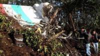 Plane crash scene
