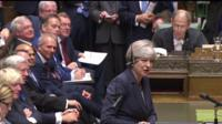 Theresa May in House of Commons