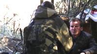 The BBC's Tom Burridge speaks to a UK man living with rebel fighters in Ukraine