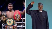 Anthony Joshua, zakaran damben duniya da Muhammadu Buhari, Shugaban Najeriya