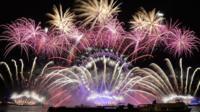 Last year's fireworks in London