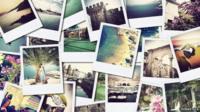 Instagram pics, stock image