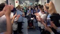 Nurse leaving hospital