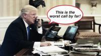 Donald Trump on phone