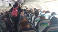 View of passengers on Aer Lingus flight
