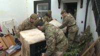 Army helps flood victims in Keswick