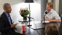 Принца Гарри берет интервью у Барака Обамы