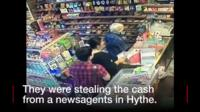 Two people stealing money
