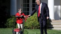Frank and Trump on White House lawn
