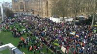 Rally in Westminster