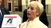 Marie McCourt in Downing Street