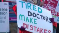 Banner saying 'Tired doctors make mistakes'