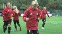 Wales winger Natasha Harding said the current team hopes to inspire the next generation of footballers.