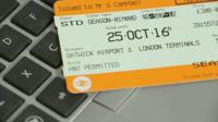 Fake train tickets