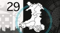 A map with the proposed new parliamentary boundaries in Wales
