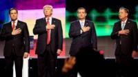 Marco Rubio, Donald Trump, Ted Cruz and John Kasich