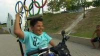 Would-be Paralympian Davi Texeira