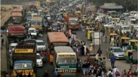 Traffic in New Delhi