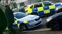 Police cars at Bermuda Park, Nuneaton
