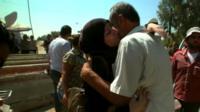 Couple hug, Damascus