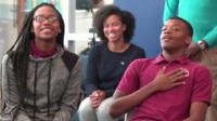Students react to seeing Barack Obama