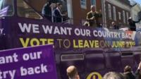 Nigel Farage campaigning in Dudley in 2016