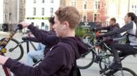 Youths on bikes
