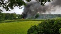 The fire in Garth Road in Trevor,