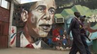 Street art of Obama