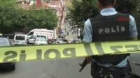 Police cordon on Turkish street