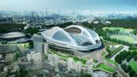 The now scrapped design for the 2020 Japan Olympic stadium