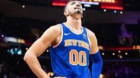 Enes Kanter playing for the New York Knicks