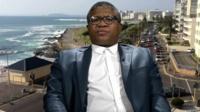 Fikile Mbalula, South Africa's Police Minister