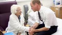 Prince William with Teresa Jones