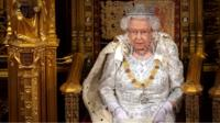 Queen Elizabeth delivering Queen's Speech