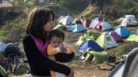 Refugee children stranded
