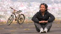 Yakuza Solo hopes his bamboo bicycle will make the world aware of his home state of Nagaland.